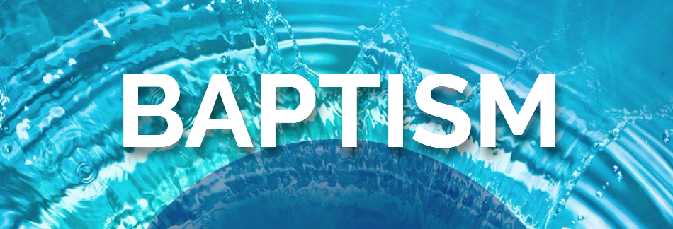 Baptism Sunday Christian Web Banner